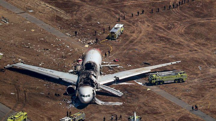 Flugzeugabsturz: Crash in San Francisco