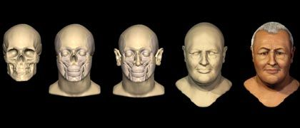 Vom Schädel zum Gesicht: Die Schottin Caroline Wilkinson rekonstruierte das Antlitz des Barockmusikers