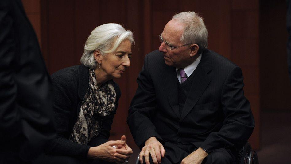 IWF-Chefin Lagarde, Bundesfinanzminister Schäuble (2013)