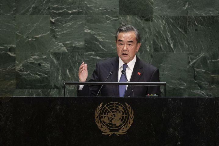 """Wang Yi bei seiner Rede vor der Uno: """"Notwendige Maßnahmen ergreifen"""""""