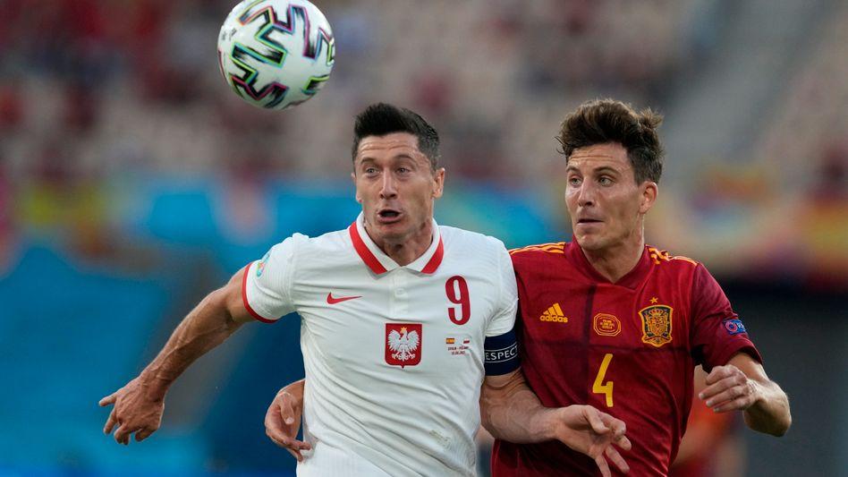Robert Lewandowski erzielte den Ausgleich für Polen