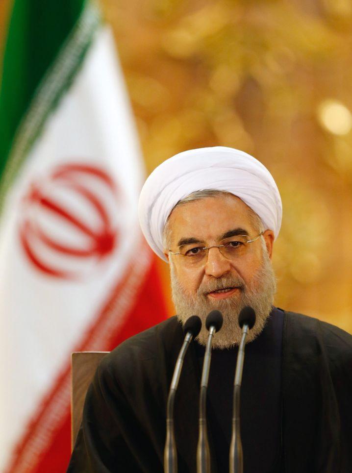 Präsident Hassan Rohani: Kritisiert den Ausschluss der Reformer