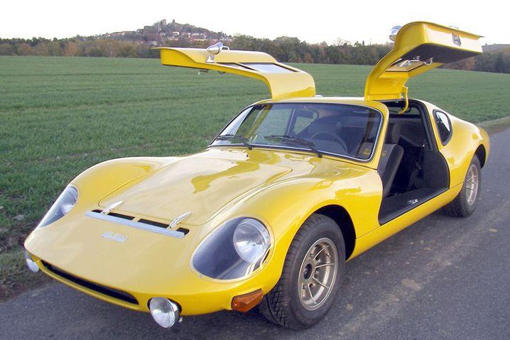 Melkus RS 1000: Der Flügeltürer aus Dresden war der DDR-Sportwagen schlechthin und dominierte auf zahlreichen Rennstrecken. Lediglich 101 Exemplare des Zweisitzers wurden von 1969 bis 1979 gebaut