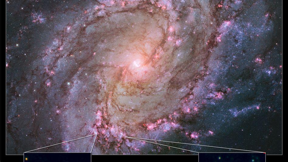 Galaxie M83: Hier soll einer der neu gefundenen Himmelskörper liegen