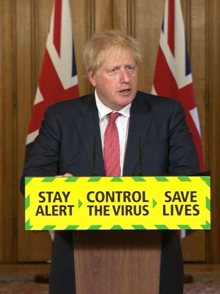 """""""Wachsam bleiben, Leben retten""""? Boris Johnson glaubt an eine Normalisierung der Lage bis Weihnachten - und an einen künftigen Verzicht auf landesweite Maßnahmen"""