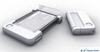 """Elektronisches Papier von Polymer Vision: Digitale """"Leserolle"""" für unterwegs"""