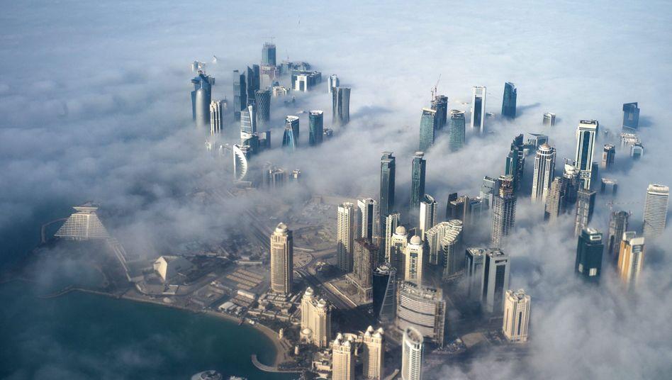 Skyline von Doha: Ex-Fifa-Exekutivmitglied Mohammed Bin Hammam