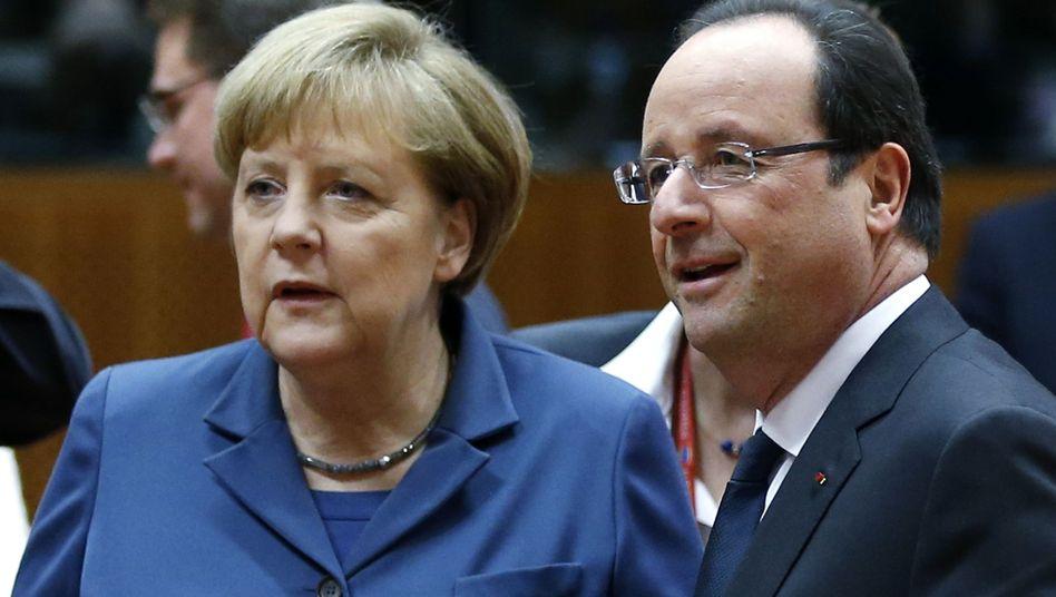 Kanzlerin Merkel, Frankreichs Präsident Hollande: Stillstand beim EU-Gipfel