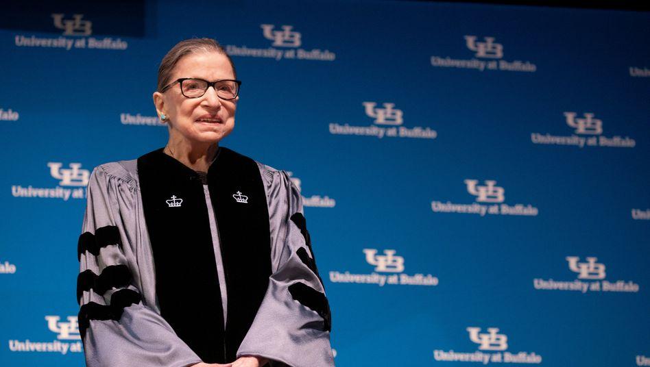 Ruth Bader Ginsburg im vergangenen August