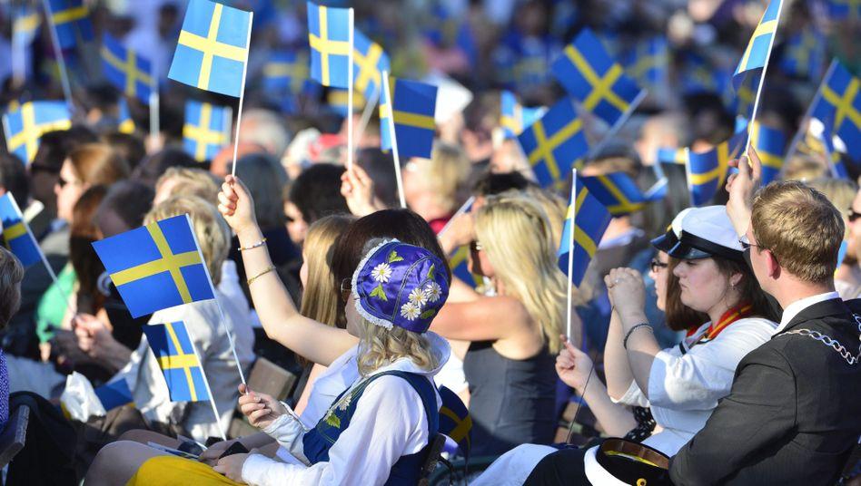 Schweden am Nationalfeiertag (in Stockholm)