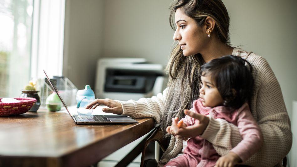 Homeoffice mit Kind ist nicht ganz so entspannt, aber insgesamt produktiver
