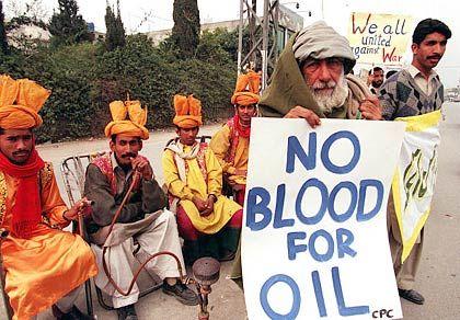 Demonstranten in der pakistanischen Stadt Rawalpindi