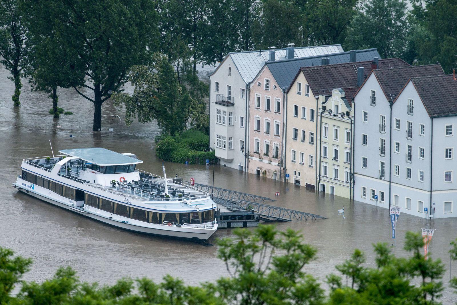 Deutschland/ Wetter/ Hochwasser in Passau