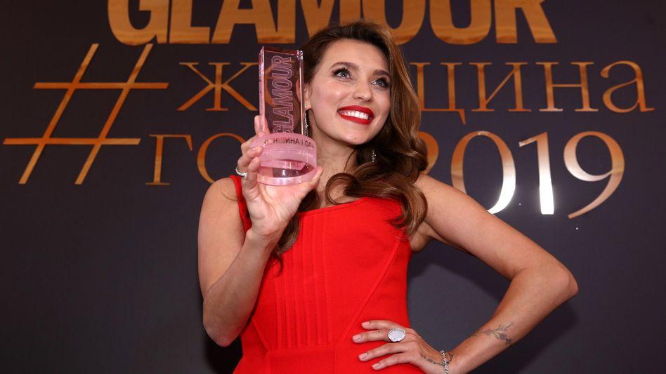 """Regina Todorenko bei der Verleihung des Titels """"Frau des Jahres"""" durch die Zeitschrift """"Glamour"""" (November 2019)"""