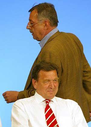 SPD-Kritiker Schreiner, Kanzler Schröder in Bonn: Warnung an die Aufständischen