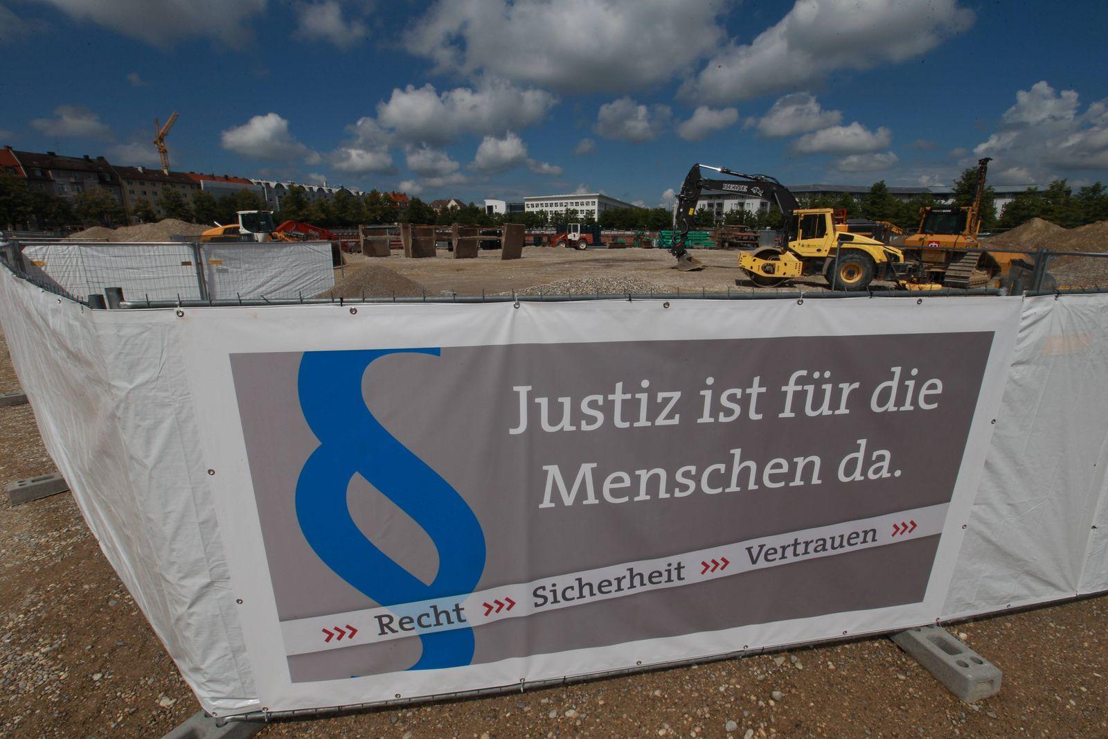 EINMALIGE VERWENDUNG Grundsteinlegung Strafjustizzentrum München