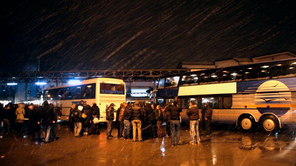 Kroatische Busse: Ziel Serbien - und dann weiter