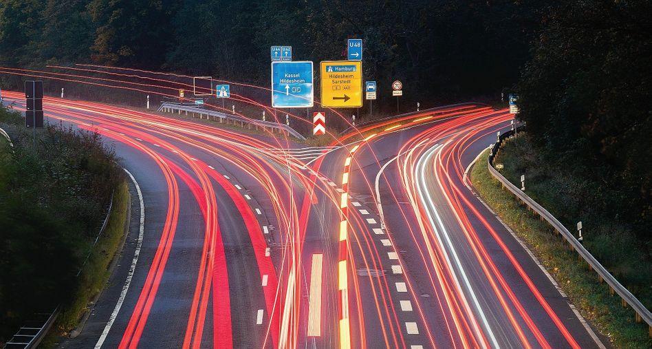 Autobahnauffahrt in Laatzen