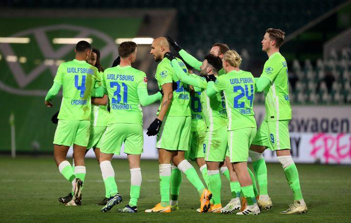 Jubelnde Wolfsburger