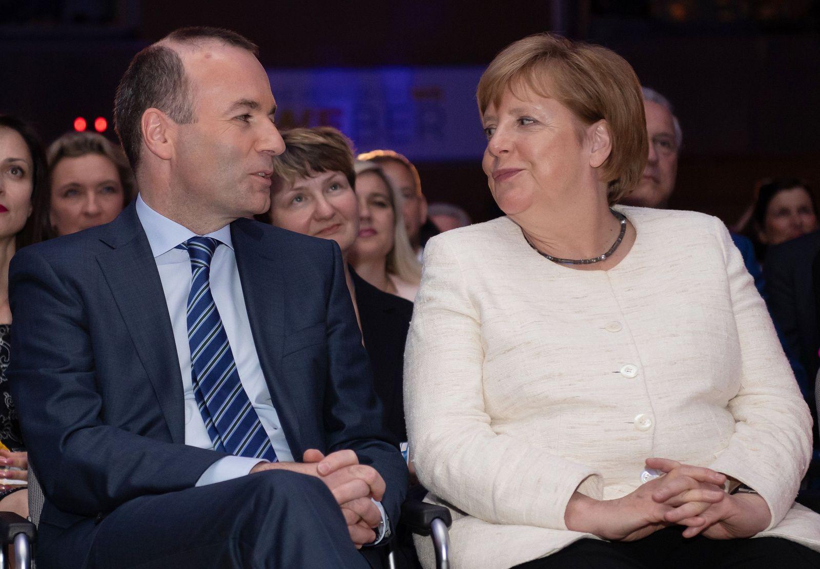 Manfred Weber Angela Merkel