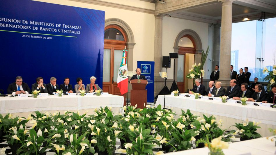 The G-20 meeting in Mexico City on Saturday.