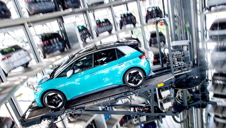 Volkswagens E-Auto ID.3 in der Autostadt Wolfsburg