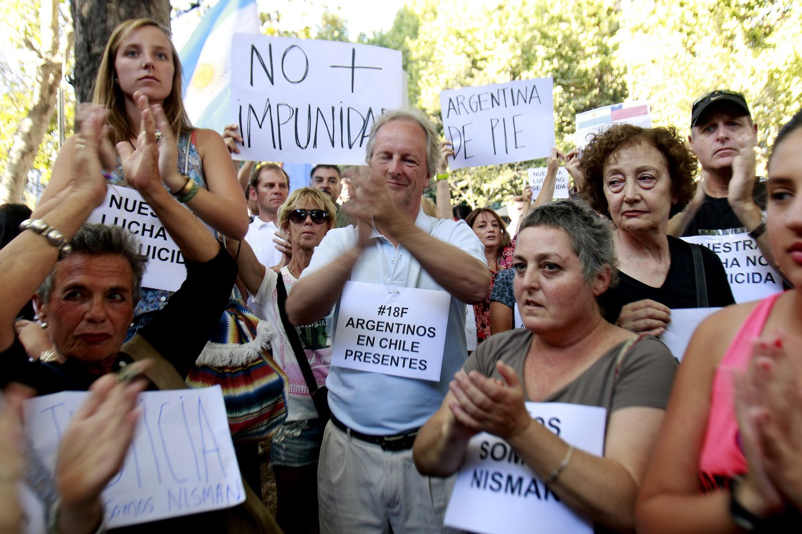Rally marking one month since prosecutor Alberto Nisman's death