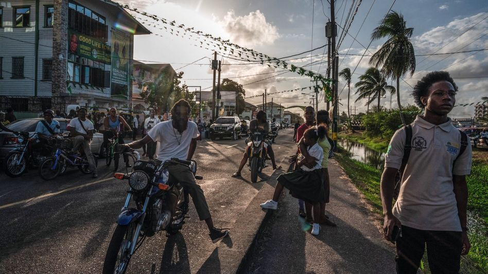 A street in Guyana's capital, Georgetown