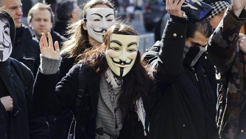 Anonymous-Protest (Archivbild): Loser Zusammenschluss von Aktivisten mit unterschiedlichen Zielen