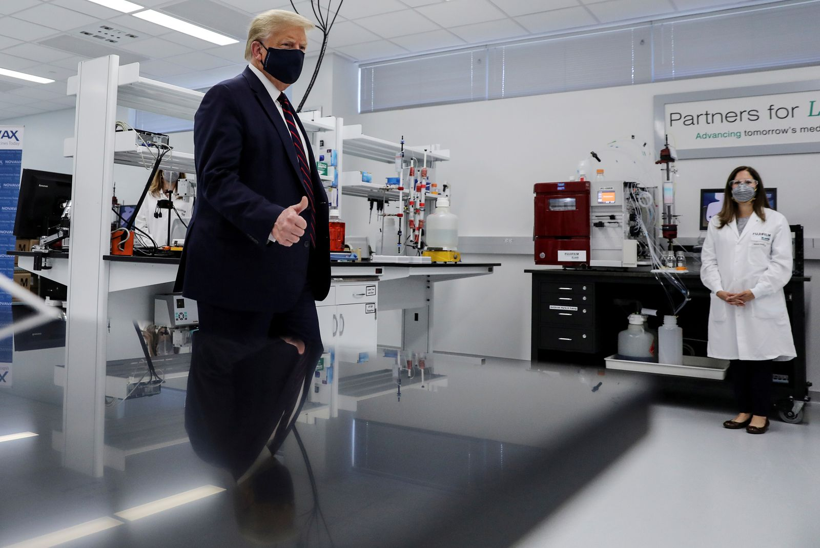 FILE PHOTO: U.S. President Trump visits Fujifilm Diosynth Biotechnologies' Innovation Center in Morrrisville, North Carolina