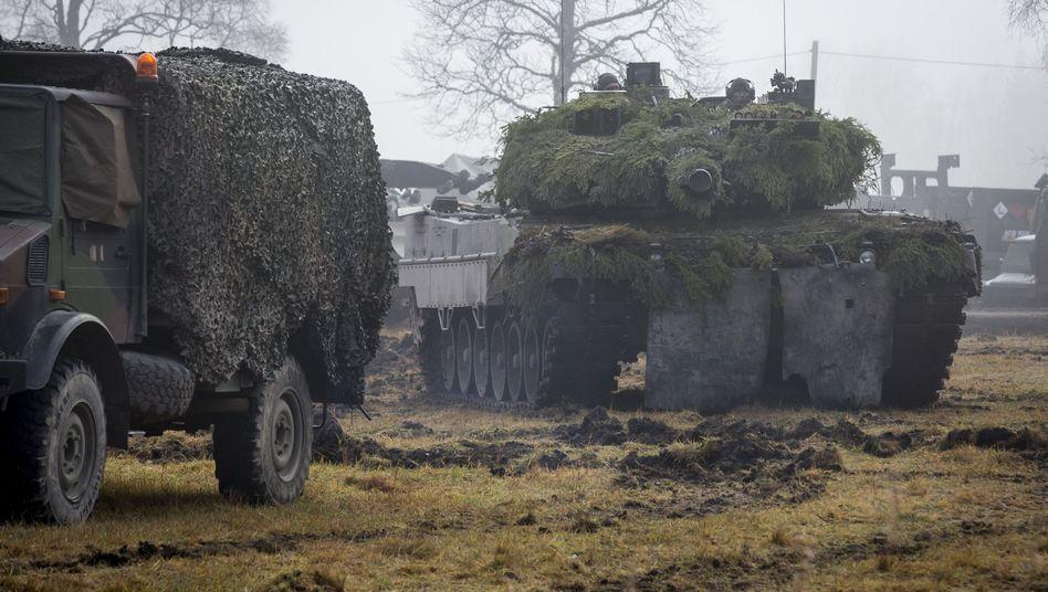 Bundeswehr-Panzer bei Großmanöver in Norwegen