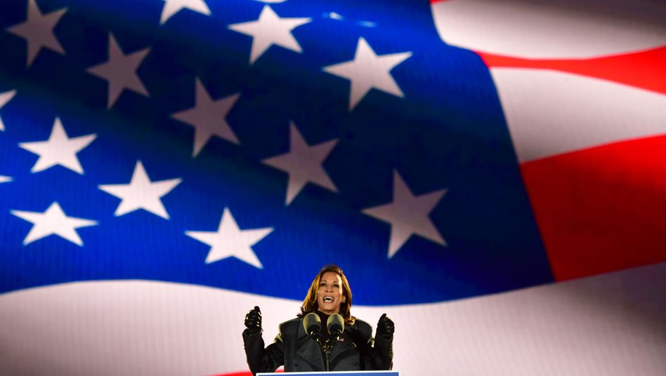 Designierte US-Vizepräsidentin Kamala Harris im Wahlkampf in Philadelphia, 2. November 2020
