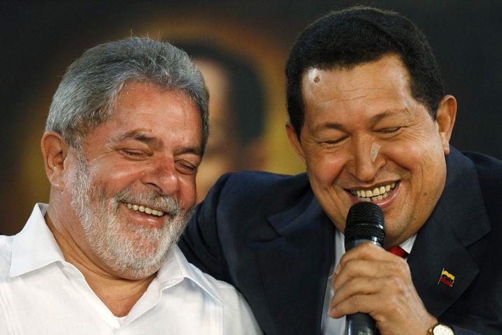 Lula da Silva (links) und Hugo Chávez (2010)