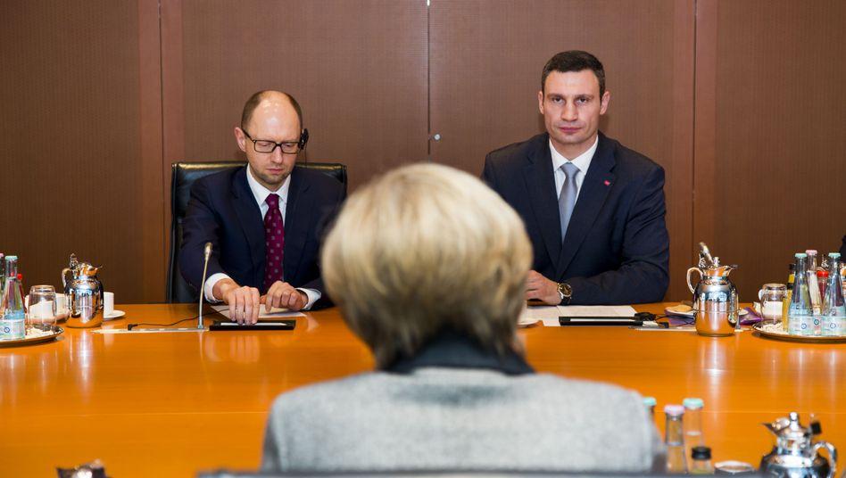 Treffen mit Klitschko: Merkel weist Forderung nach Sanktionen gegen die Ukraine zurück