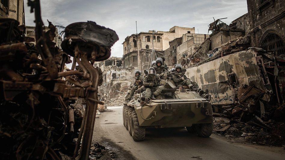 Russische Soldaten in Aleppo: »Menschenrechte spielen keine Rolle«