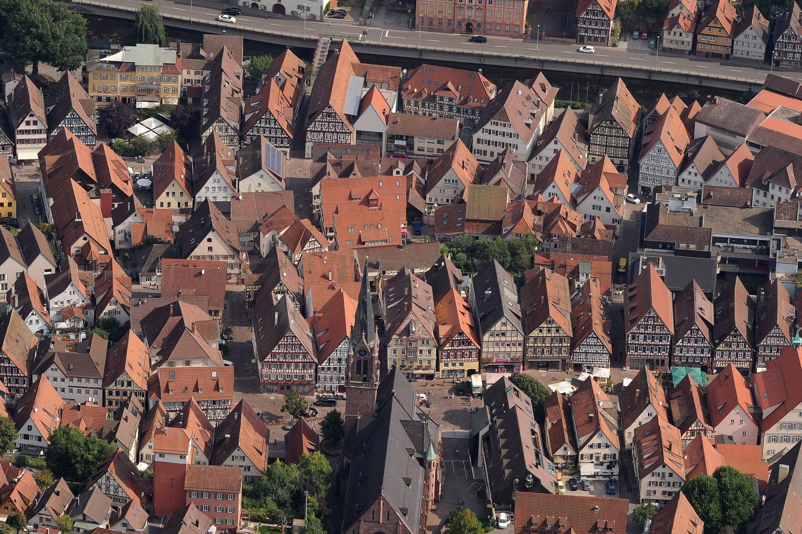 Luft Luftbild Calw Altstadt Luft Luftbild Calw Altstadt *** air aerial view Calw old town air aerial view Calw old town