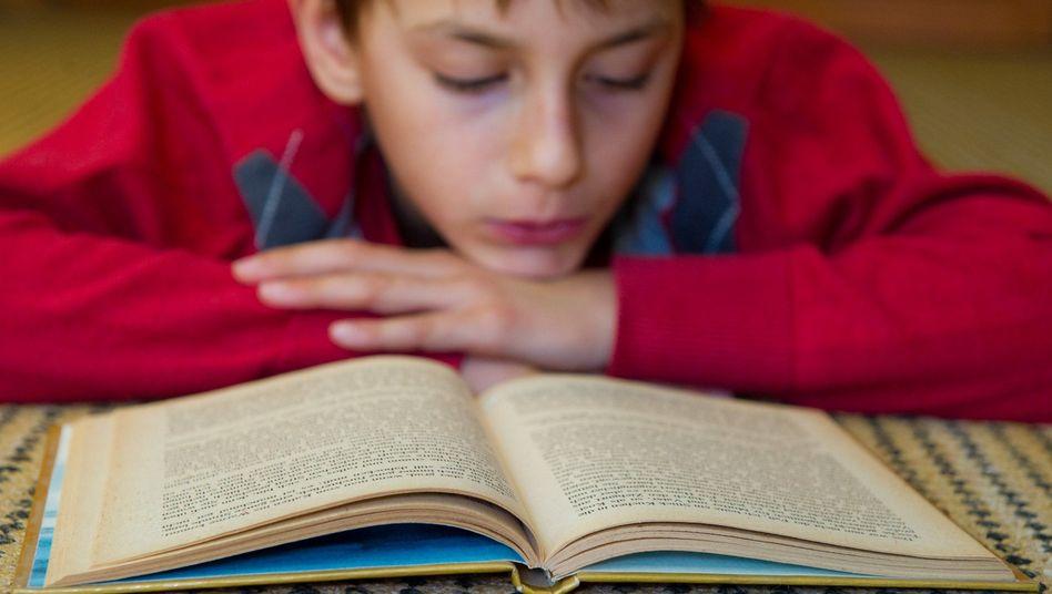 Zehnjähriger Schüler beim Lesen (Archivbild): Vorteil Waldorf?