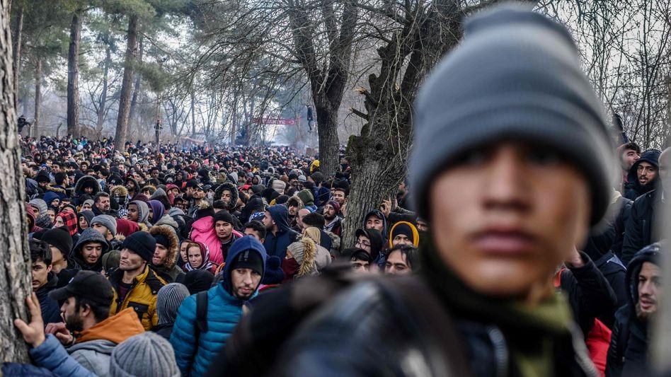 Flüchtlinge an der türkisch-griechischen Grenze bei Pazarkule: seit Jahren in der Türkei