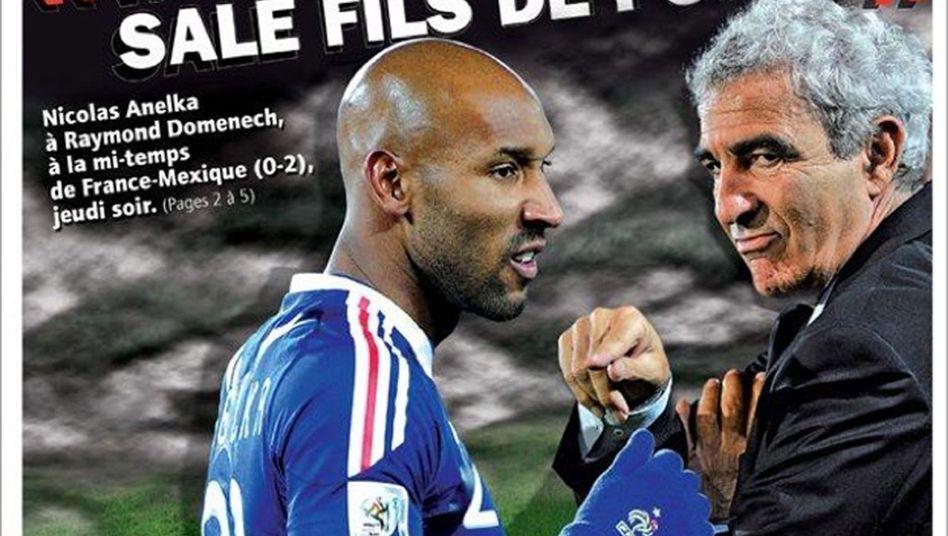 Frankreichs Stürmer Anelka: Öbszöne Beleidigung gegen den Trainer Domenech