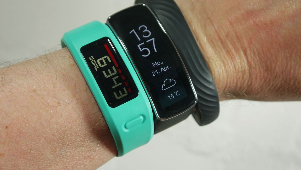 Armbänder, die fit machen sollen: Samsung Gear Fit, Garmin Vivofit und Jawbone Up24
