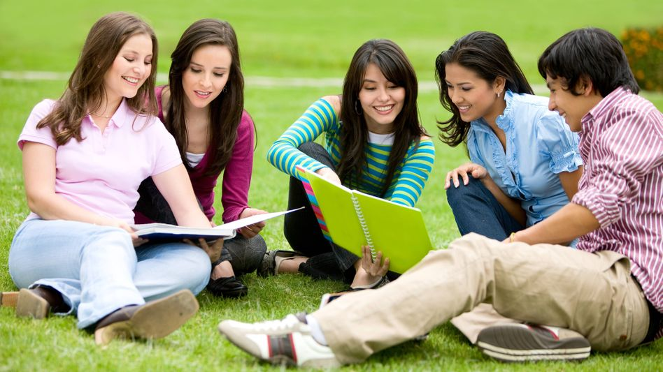 Studenten im Park (Symbolbild)