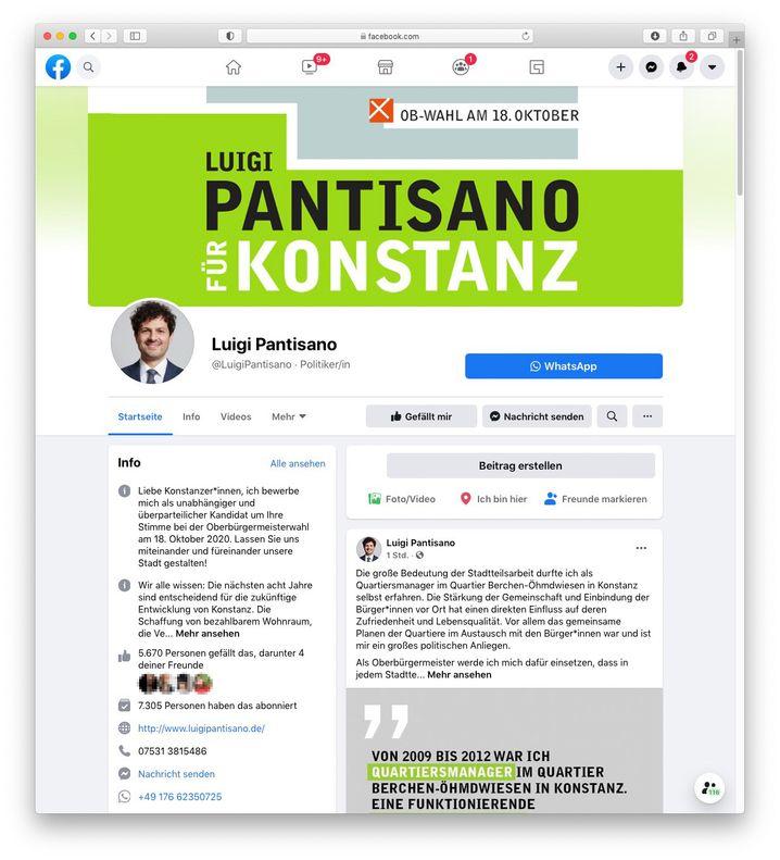 Pantisanos Facebookseite