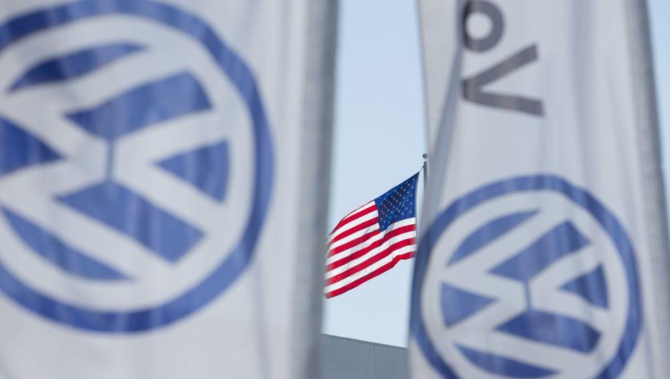 VW-Fahnen in San Diego