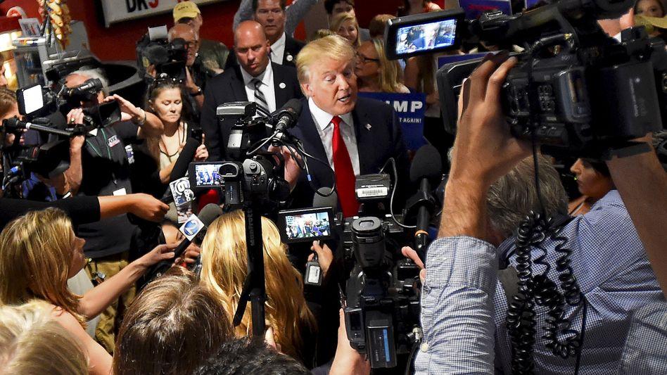 Nahkampf: Trump und die Medien