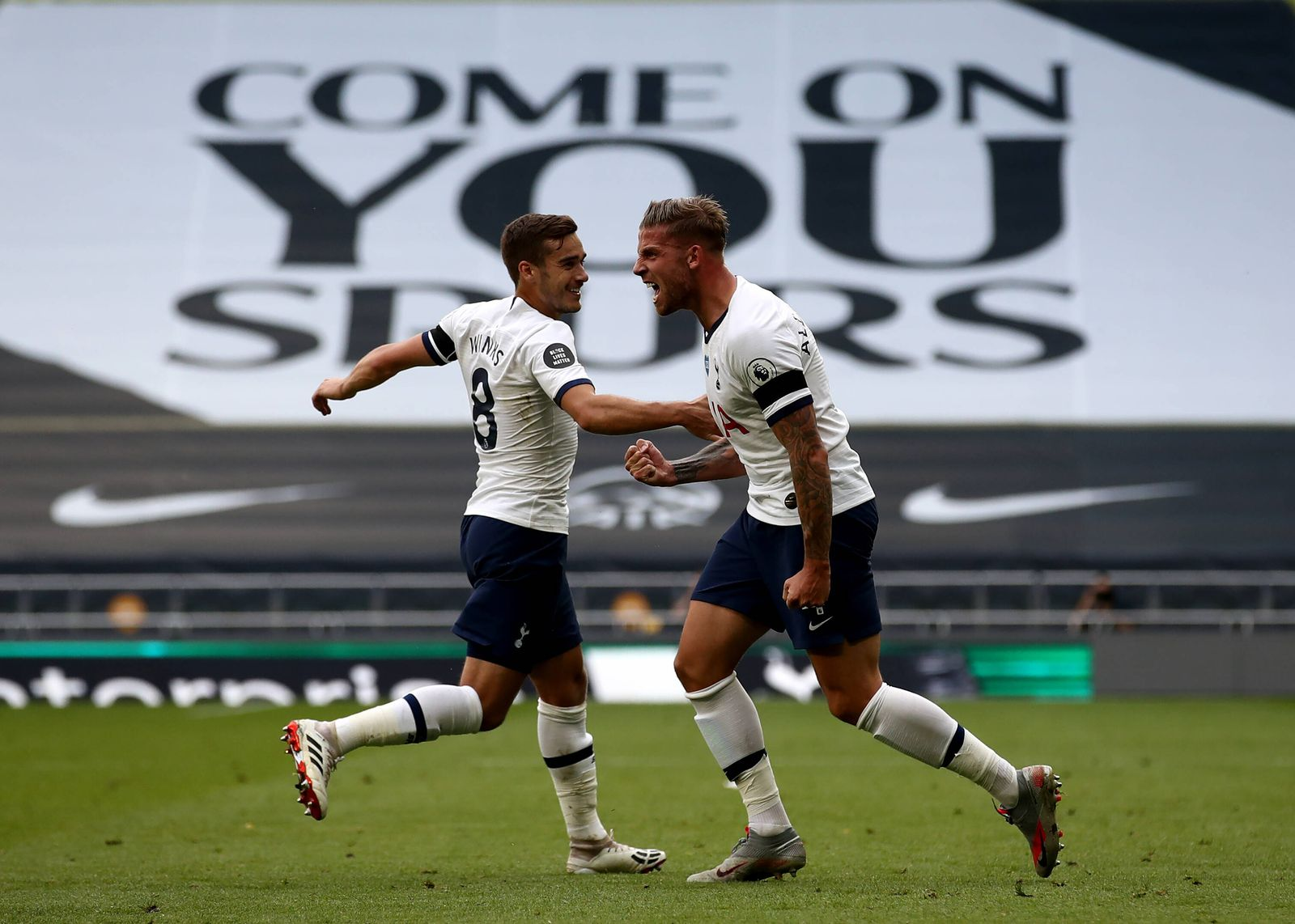 Tottenham Hotspur v Arsenal - Premier League - Tottenham Hotspur Stadium Tottenham Hotspur s Toby Alderweireld (right)