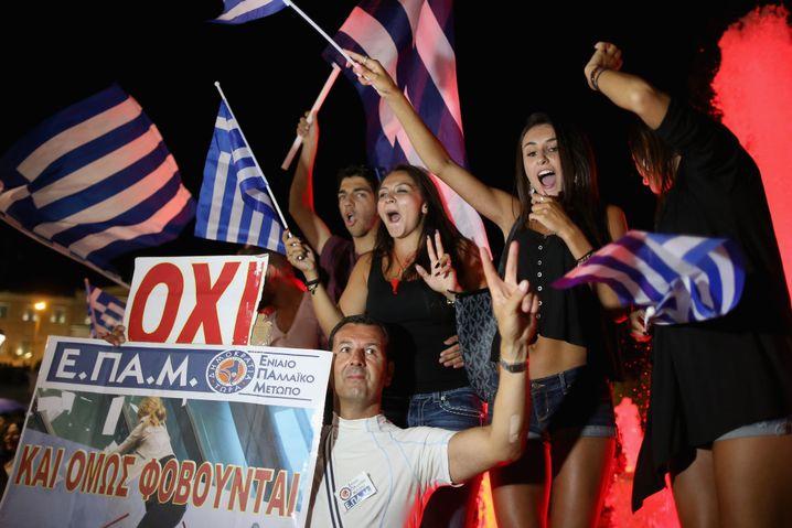 Jubel in Athen bei den Tsipras-Anhängern