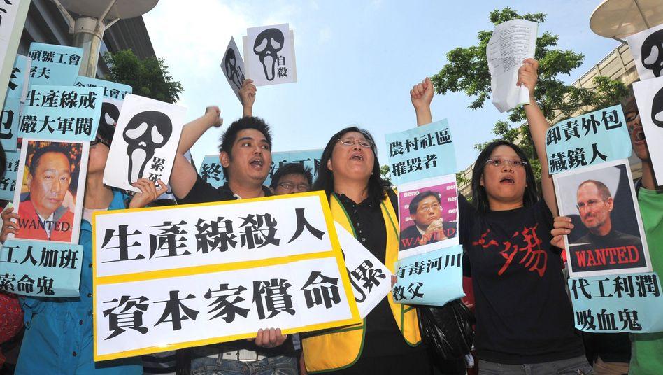 """Protest gegen Arbeitsbedingungen bei Foxconn: """"Für eine Fabrik ist es da ziemlich nett"""""""