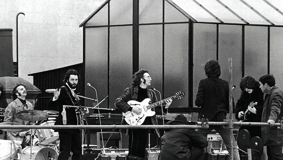 Beatles bei ihrem letzten Auftritt
