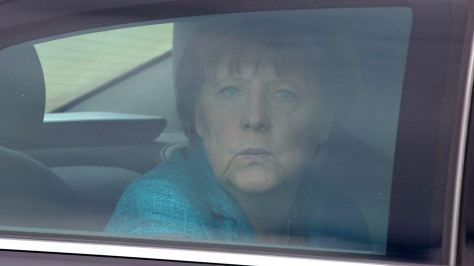 """Kanzlerin Merkel (in Deauville am Donnerstag): """"Keine Dividende"""""""