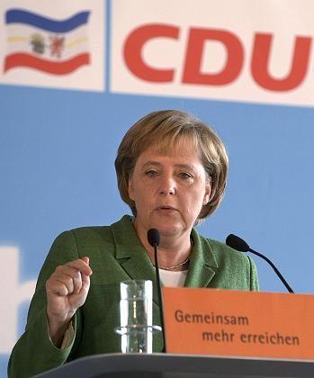 """Merkel beim Landesparteitag in Mecklenburg-Vorpommern: """"Das kann man vergessen"""""""